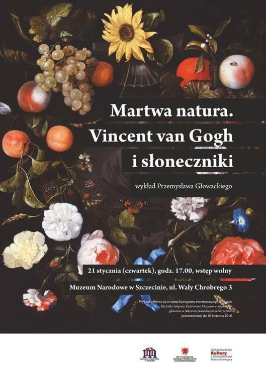 Martwa natura Vincent van Gogh i słoneczniki poster Muzeum Narodowe w Szczecinie