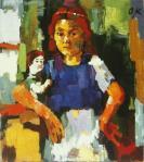 Oskar Kokoschka Girl with Doll 1921 22 Detroit Institute of Arts