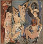 Pablo Picasso Les Demoiselles dAvignon 1958 cartoon for tapestry priv coll
