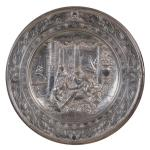 Pompeian Lady plaque Birmingham 1877 galvanoplastic bronze silver-plated Victoria & Albert Museum London