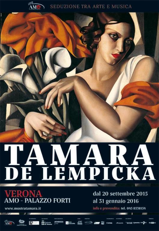 Tamara de Lempicka Palazzo Forti Verona poster