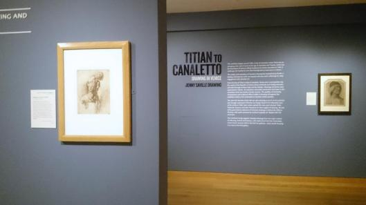 Titian to Canaletto Drawing in Venice exhibition view Ashmolean Museum Oxford artdone