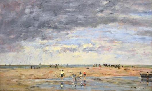 Eugène Boudin Anglers on the Seashore Pêcheurs en bord de mer 1891 Association Peindre en Normandie