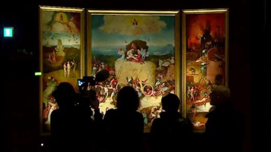 Jheronimus Bosch Visions of Genius exhibition view Triptych of Haywain
