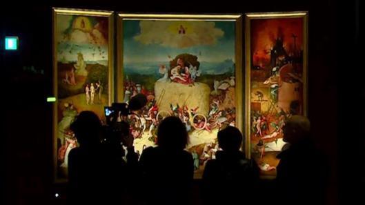 Jheronimus Bosch Visions of Genius exhibition view Triptych of Haywain