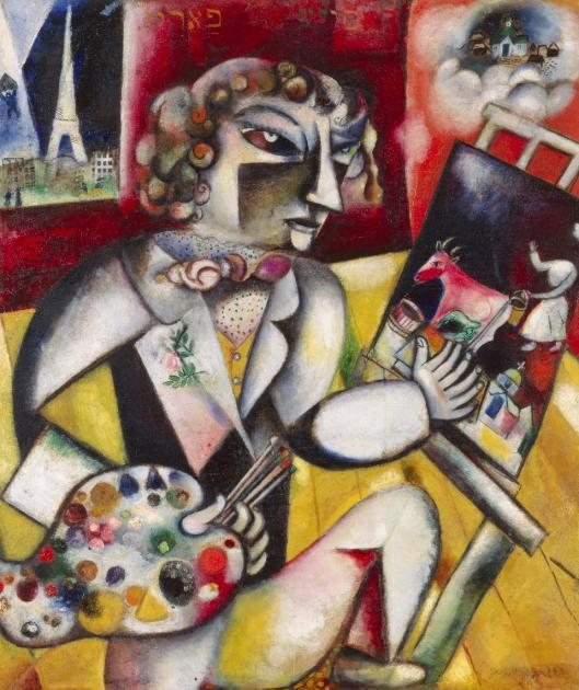 Marc Chagall Self-Portrait with Seven Fingers 1912 13 Stedelijk Museum Amsterdam