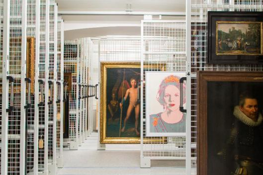 Storage room of the Mauritshuis The Hague Photographer Ivo Hoekstra