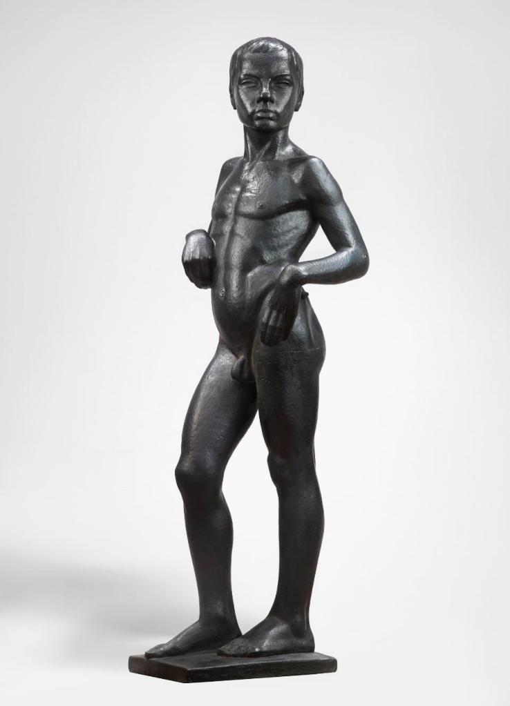 Alfons Karny Nude Boy Akt chłopca (Kazik) 1928 bronze ...: https://artdone.wordpress.com/2016/04/18/rzezba-krolikarnia/alfons-karny-nude-boy-akt-chlopca-kazik-1928-bronze/