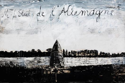 Anselm Kiefer Madame de Staël Germany 1982– 2013 collage of woodcuts on canvas with acrylic and shellac priv coll