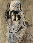 Francis Picabia Untitled (Spanish Woman and Lamb of the Apocalypse) ca 1927 28 watercolour gouache ink pencil priv coll