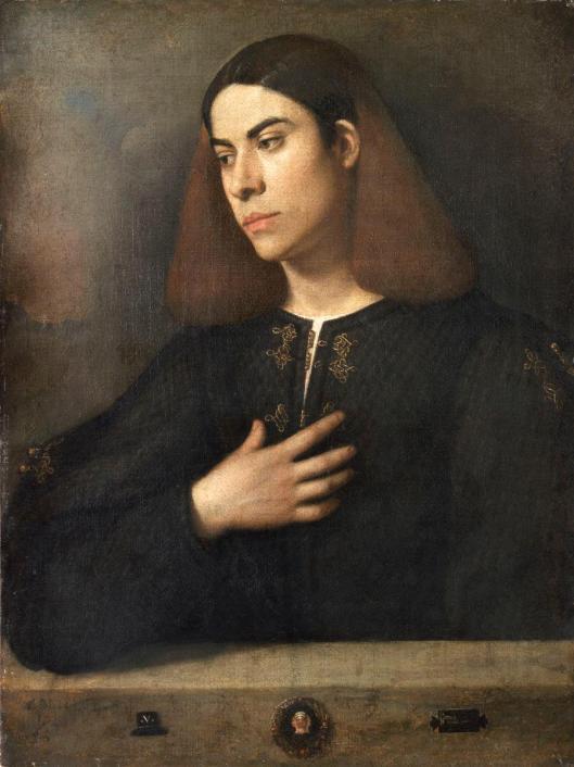 Giorgione Portrait of a Young Man (The Broccardo Portrait) ca 1508 10 Szépművészeti Múzeum Budapest