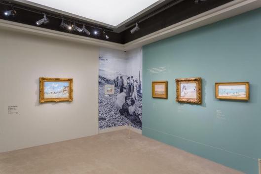 L'atelier en plein air. Les impressionnistes en Normandie exhibition view Musée Jacquemart-André Paris