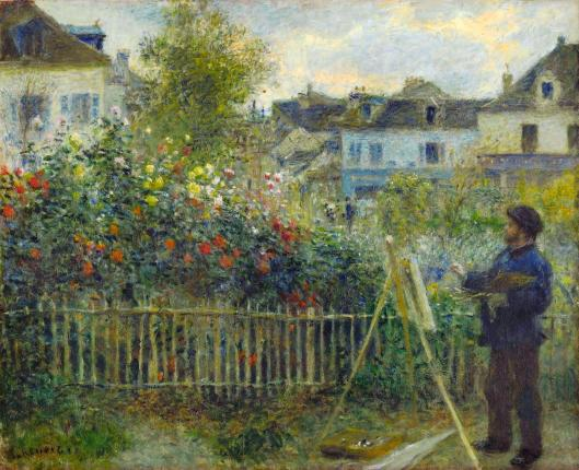 Pierre-Auguste Renoir Monet Painting in His Garden at Argenteuil 1873 Wadsworth Atheneum Museum of Art Hartford