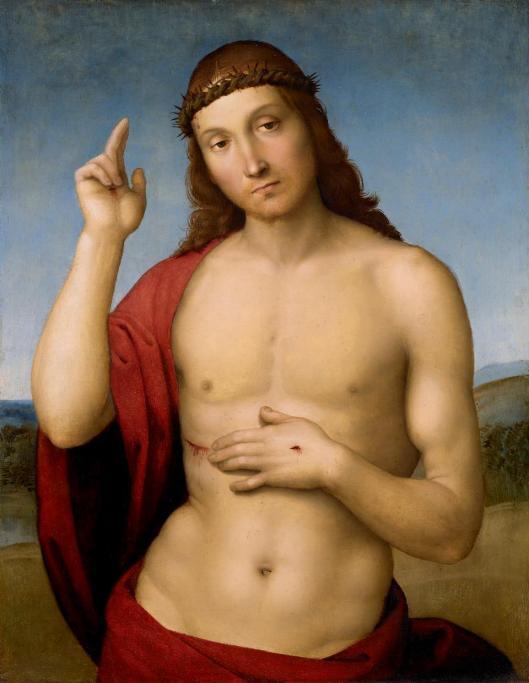 Raphael Christ blessin ca 1505 06 Pinacoteca Brescia