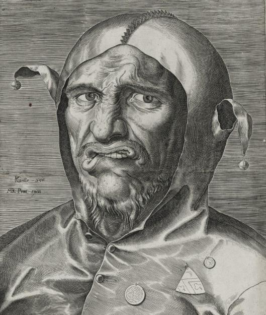 Philips Galle A Fool's Head ca 1560 engraving