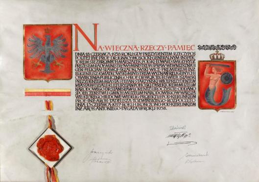 Akt oddania społeczeństwu nowego gmachu Muzeum Narodowego w Warszawie przy Alei 3 Maja 13 w dniu 18 czerwca 1938 r. MNW
