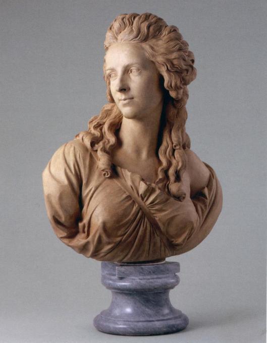 Augustin Pajou Portrait of Madame Vigée Le Brun 1783 terracotta Louvre Paris