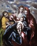 El Greco Holy Family with Mary Magdalene ca 1580 priv coll