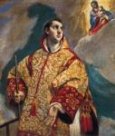 El Greco Vision of the Virgin with St Lorenzo 1576 77 Colegio de Nuestra Señora de la Antigua Monforte de Lemos