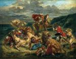 Eugène Delacroix Lion Hunt 1861 Art Institute of Chicago