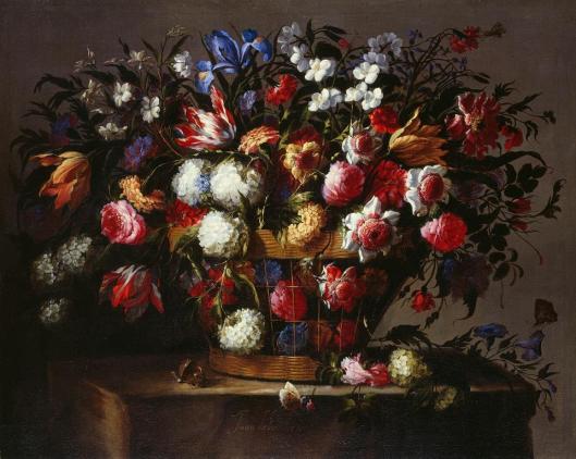 Juan de Arellano Still Life with Flowers ca 1670 Gemäldegalerie Alte Meister, Staatliche Kunstsammlungen Dresden