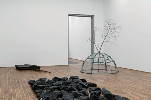 Sculpture on the Move exhibition view Kunstmuseum Basel Joseph Beuys Richard Long Mario Merz