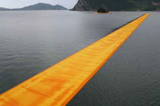 Christo and Jeanne-Claude The Floating Piers, Lake Iseo, Italy, 2014-16
