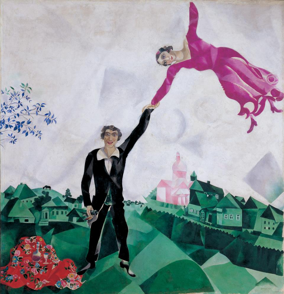 Chagall, Spaziergang (1917)