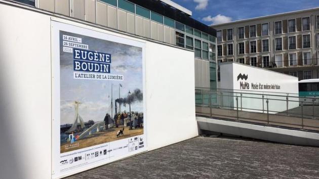 Musée d'art moderne André Malraux MuMa Le Havre Eugène Boudin l'atelier de la lumière museum etrance