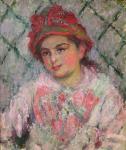 Claude Monet Portrait of Blanche Hoschede 1880 Louvre loan Rouen