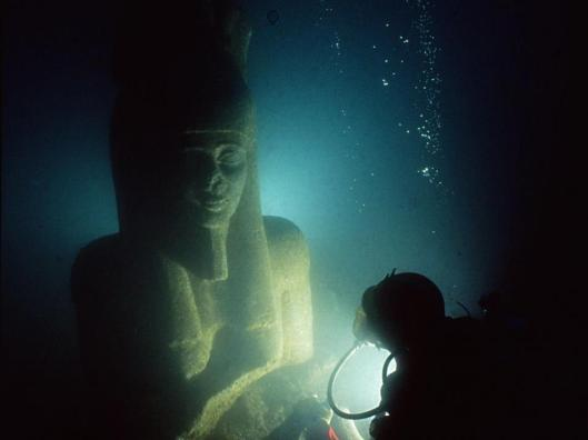 Colossal statue of god Hapy, Thonis-Heracleion, Aboukir Bay, Egypt