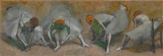 Edgar Degas Frieze of Dancers (Danseuses attachant leurs sandales) ca 1895 oil on canvas Cleveland Museum of Art