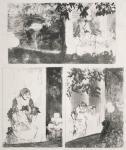 Edgar Degas Miss Bécat at the Cafe of the Ambassadors Three Motifs ca 1877 78 MFA Boston