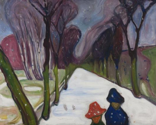 Edvard Munch New Snow in the Avenue 1906 Munch-museet Oslo