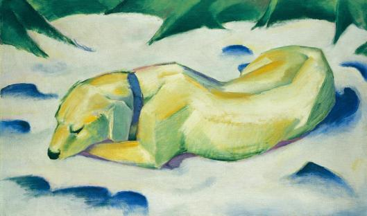 Franz Marc Dog Lying in the Snow ca 1911 Städel Museum Frankfurt am Main