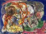 Jackson Pollock Untitled ca 1946 gouache pastel Peggy Guggenheim Collection Venice