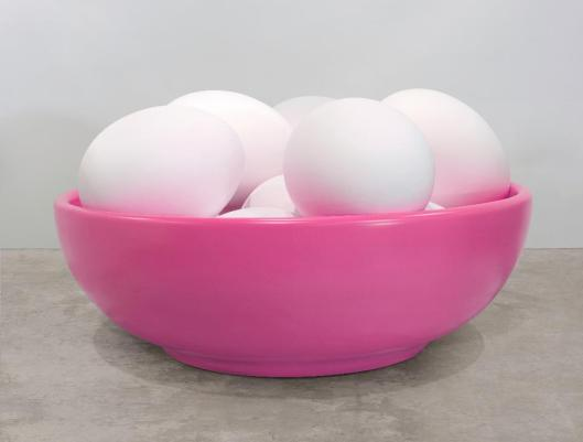 Jeff Koons Bowl with Eggs (Pink) 1994 2009