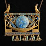 pectoral from royal tomb of the Pharaoh Sheshonk II in Tanis ca 890 BC Egyptian Museum Cairo