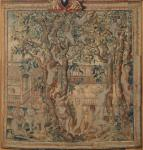 Attributed to Giulio Romano Boys among Apple Trees mid-17th century woven silk wool tapestry Windsor
