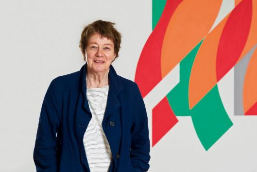 Bridget Riley in front of Rajasthan foto
