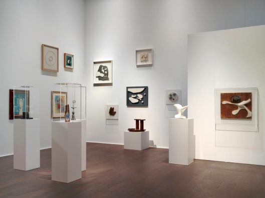 Installation view Schwitters Miró Arp Hauser & Wirth Zürich 2016
