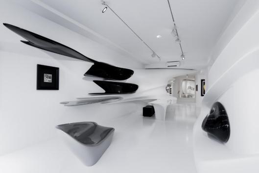 Kurt Schwitters Merz Designed by Zaha Hadid exhibition view Galerie Gmurzynska Zurich