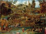 Lodewijk Toeput Pleasure Garden with a Maze ca 1579 84 Windsor