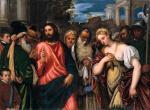 Polidoro da Lanciano Christ and the Adulteress ca 1540 45 Pinacoteca Tosio Martinengo Brescia