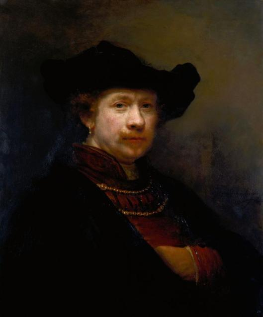 Rembrandt Self-Portrait in a Flat Cap 1642 Windsor