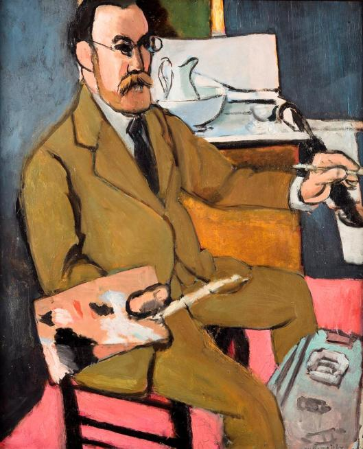 Henri Matisse Self Portrait 1918 musée d'Orsay Paris loan musée départemental Henri Matisse Le Cateau-Cambrésis