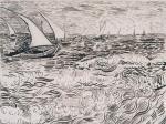 vincent-van-gogh-waves-boats-at-sea-1888-kupferstichkabinett-berlin