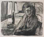 edvard-munch-self-portrait-with-bottle-of-wine-1930-lithograph