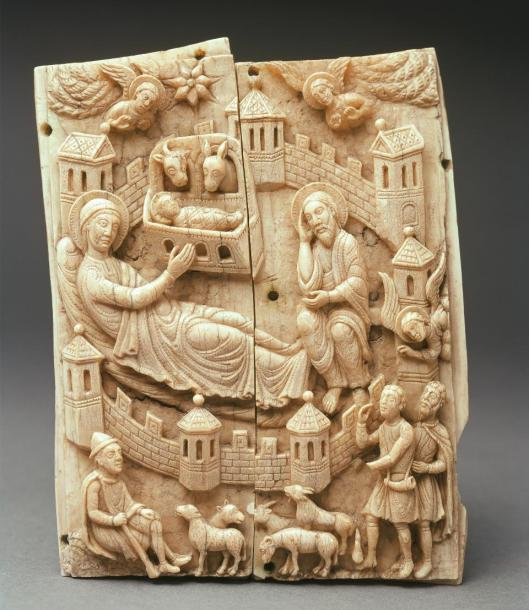 nativity-from-the-so-called-kleinere-gestichelte-gruppe-cologne-ca-1150-60-walrus-ivory-museum-schnutgen-cologne