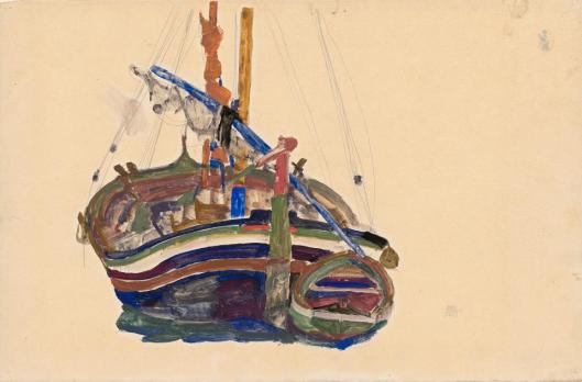 egon-schiele-trieste-fishing-boat-1912-albertina-vienna